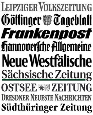 Pressekonzern: Einige der Zeitungen, an denen die SPD Beteiligungen hält