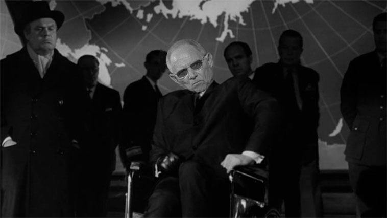 """Bundesfinanzminister Dr. Wolfgang """"Strangelove"""" Schäuble"""