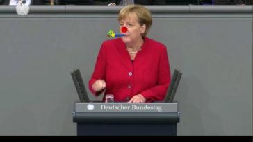 Merkel als Clown Kopie