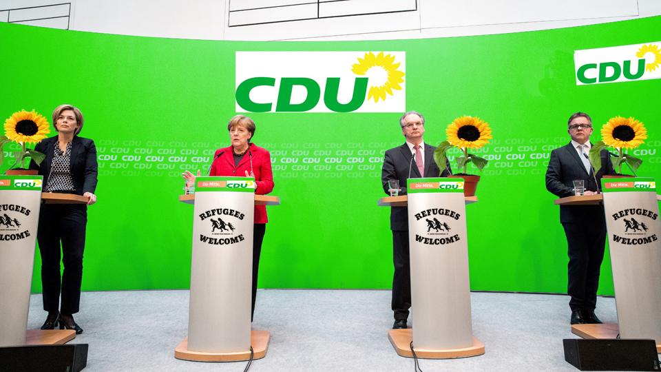 CDU-Krisentreffen: Merkel will die Herausforderung durch die Grünen annehmen